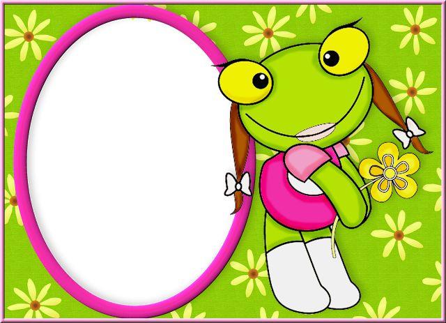 Sapo Pepe y Sapa Pepa: imágenes e invitaciones para imprimir gratis.