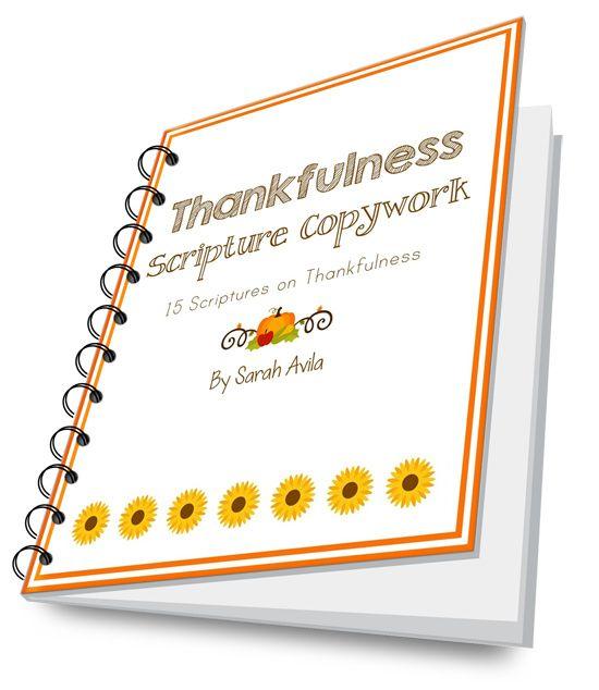 Thankfulness Scripture Copywork - FREE Printable