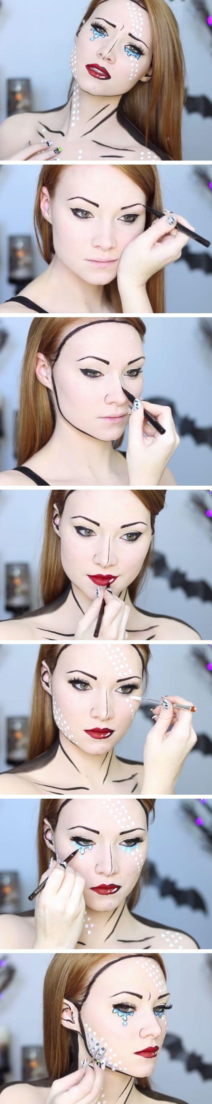 15 Make-up-Ideen für ein paar Halloween-Looks #wednesdayaddams #zombiemake