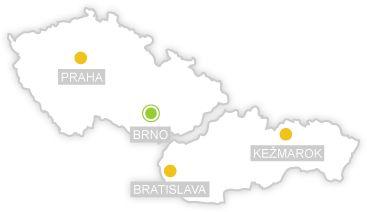 Čiperka - Mapa ČR a SR