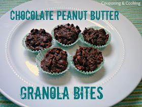 Couponing & Cooking: No Bake Chocolate Peanut Butter Granola Bites ...