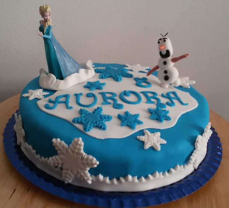 Frozen cake...per la piccola Aurora. Buon compleanno principessa