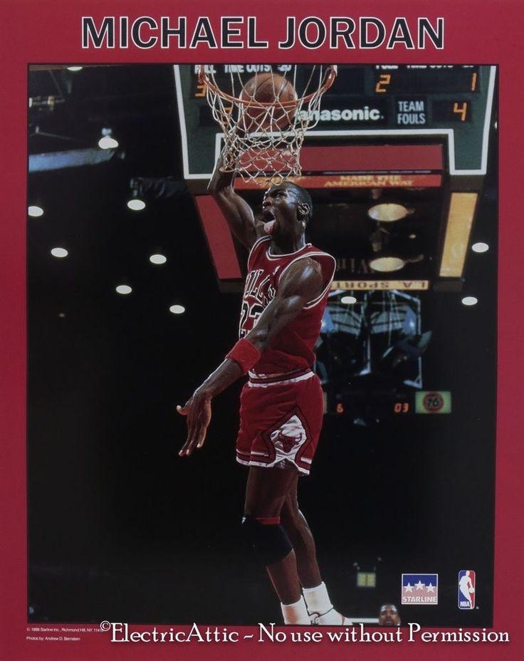 Vintage New Old Stock 16 x 20 1988 Starline Michael Jordan Bulls Poster NBA