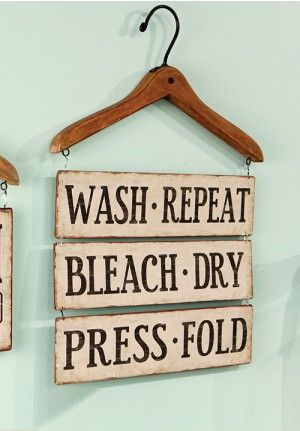 Laundry Sign Vintage Room Decor