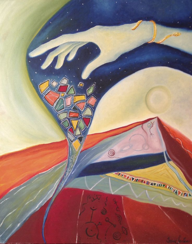 Landscape with angelic hand 30x70 - Available to order