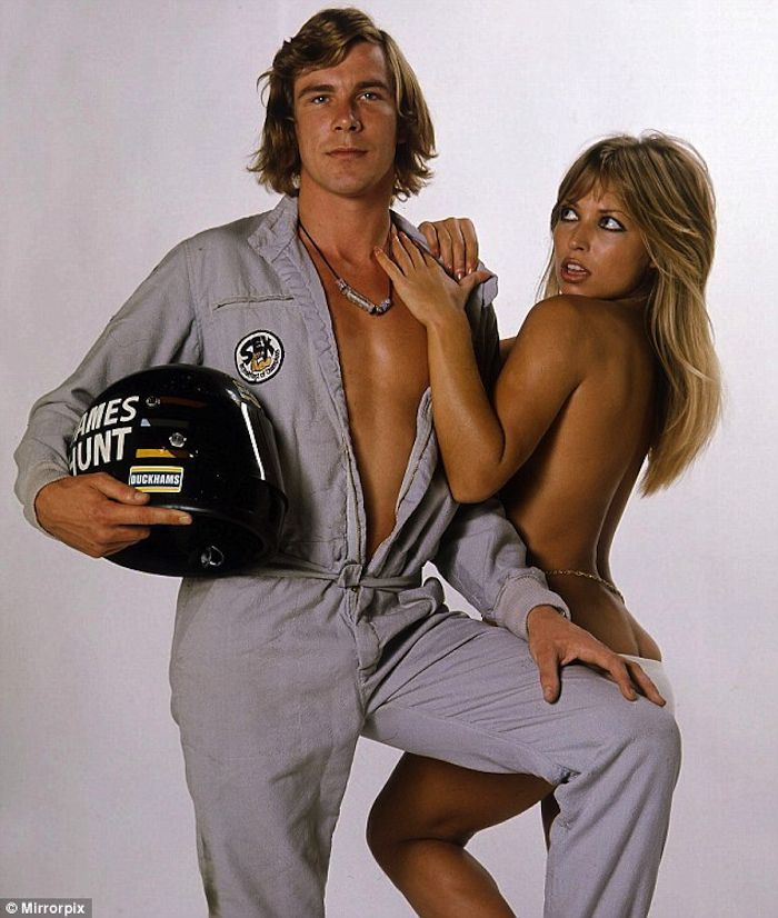 Driver James Hunt & a Naked Model - Epic 1970's