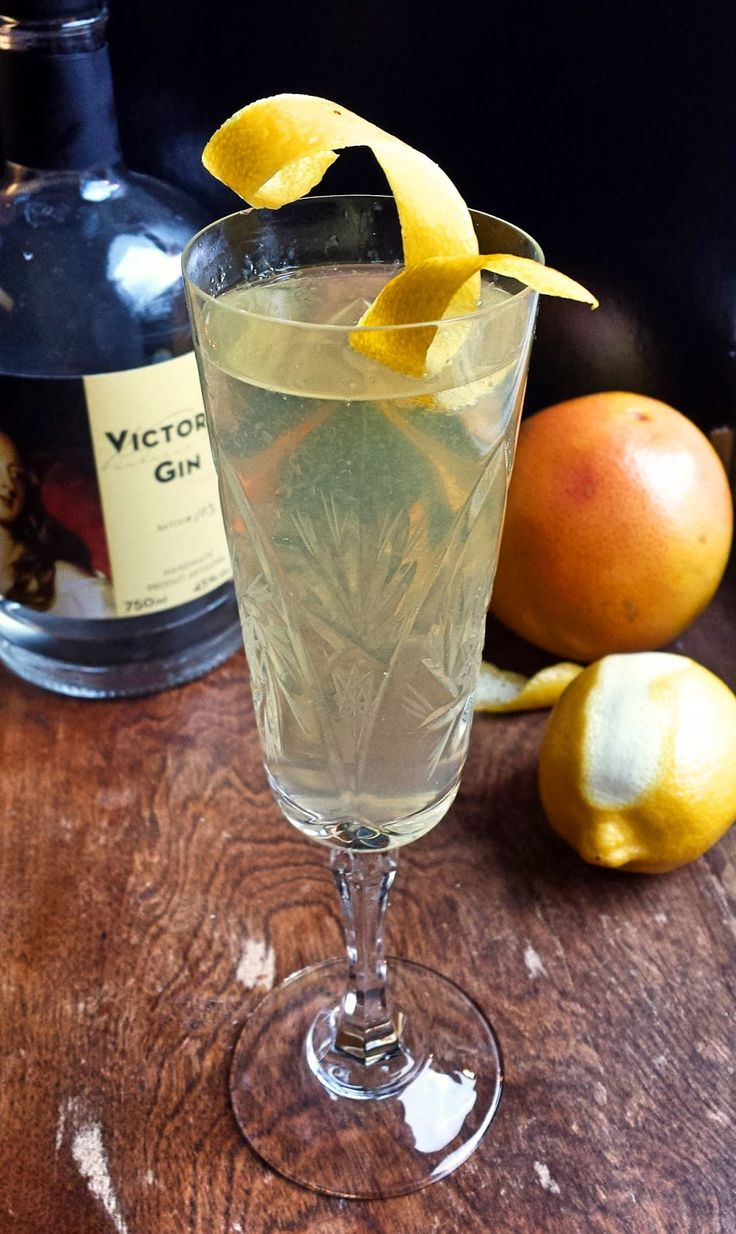 West Coast 75 1 oz Victoria Gin 1/2 oz fresh lemon juice 1/2 oz simple syrup (1 pt water 1 pt sugar) 3 oz sparking wine 1 drop orange bitters (twisted and bitter)     Method In a shaker add gin, lemon and syrup, fill 3/4 with ice. Shake briefly and strain into flute. Top with chilled sparkling. Drop in bitters, garnish with lemon zest.   Tipicular Fixin's: SPIRIT EVOLUTION