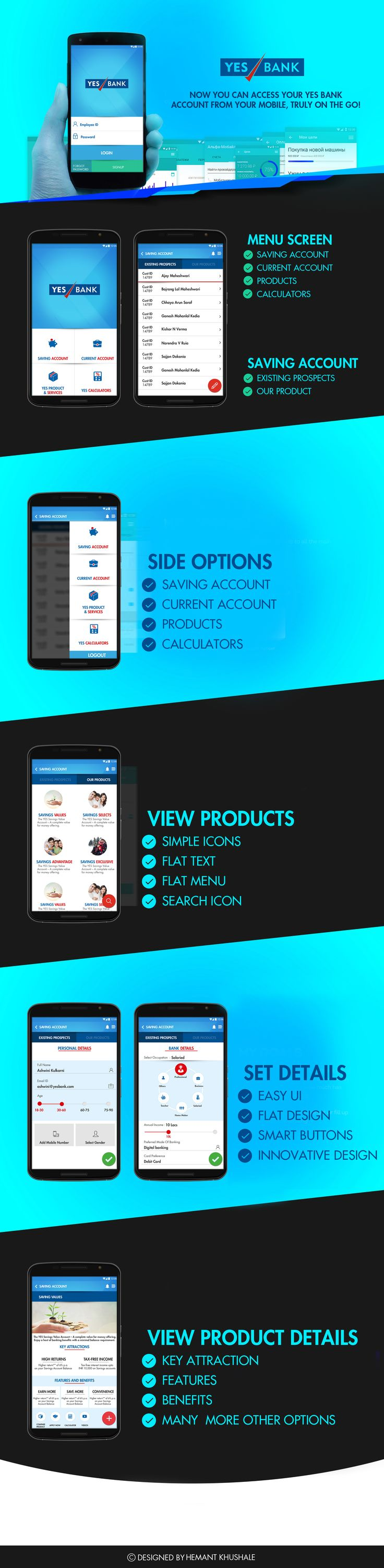"""Check out my @Behance project: """"YES BANK APP"""" https://www.behance.net/gallery/47539099/YES-BANK-APP"""