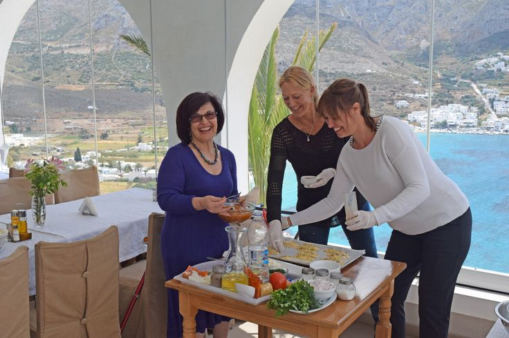greek cooking classes at Aegialis and Hotel Spa