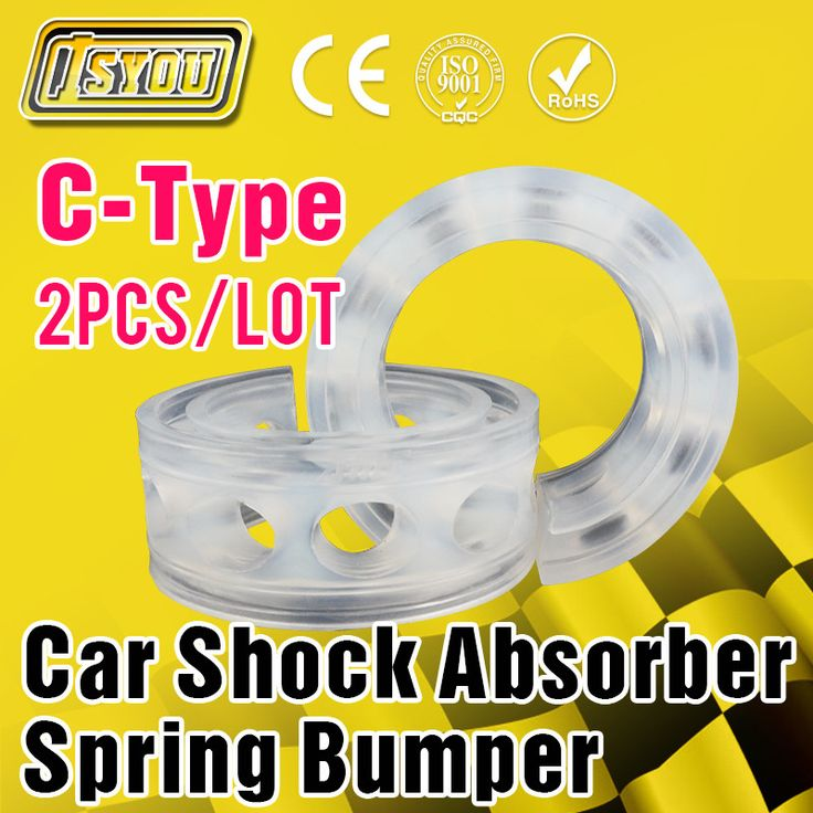 2Pcs Car Auto C-Type Shock Absorber Spring Bumper Power Cushion Buffer Special Wholesale Auto Parts Free Shipping