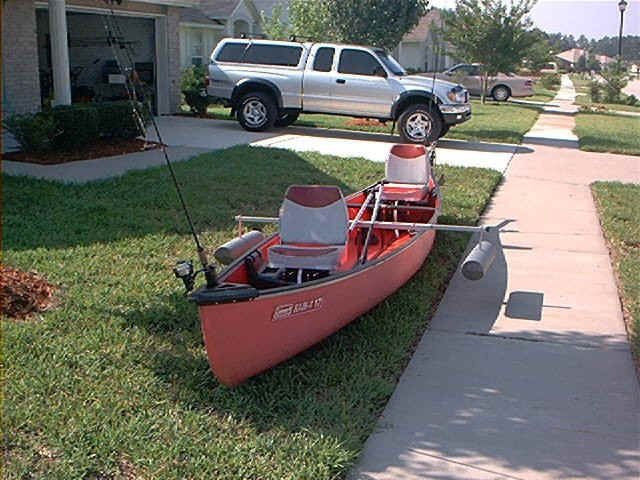 diy canoe stabilizer | 17' Colman rigged with homemade anchor system