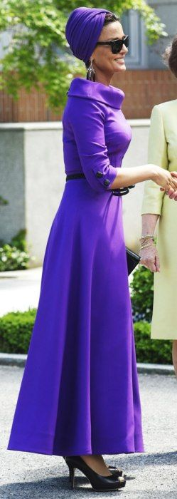 Purple perfection - H.H. Sheikha Moza Bint Nasser of Qatar