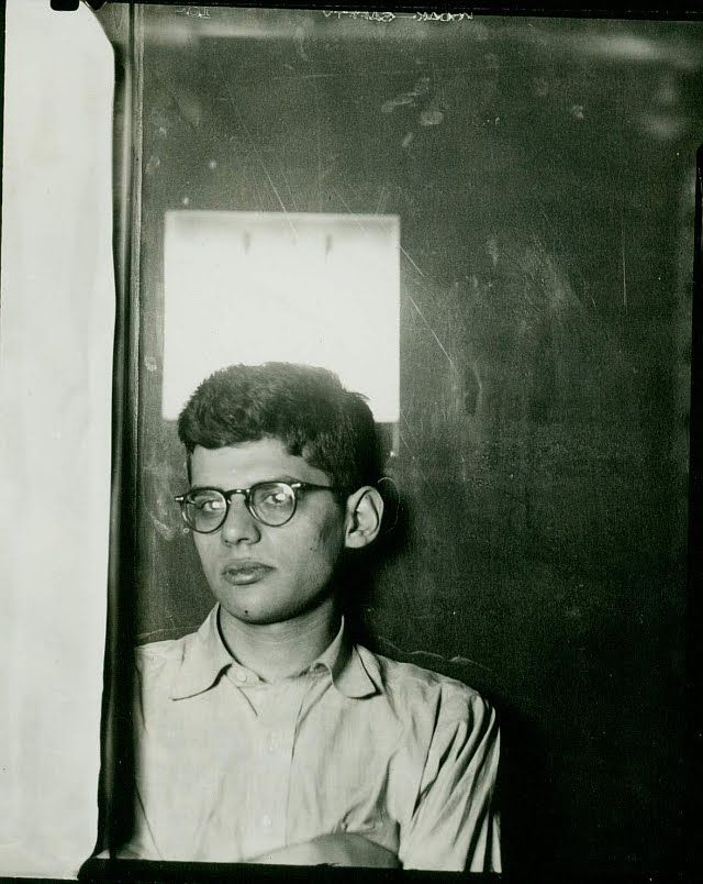 [Allen Ginsberg, self portrait in AP darkroom, 1949. Used for cover of Gates of Wrath. c. Allen Ginsberg Estate]