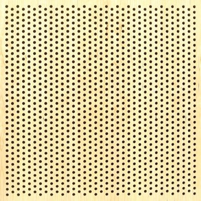 similar to this ..  in 4 x 8 Eccotone Acoustic Wood Panel - Perforated 8 Staggered Clear Maple Finish
