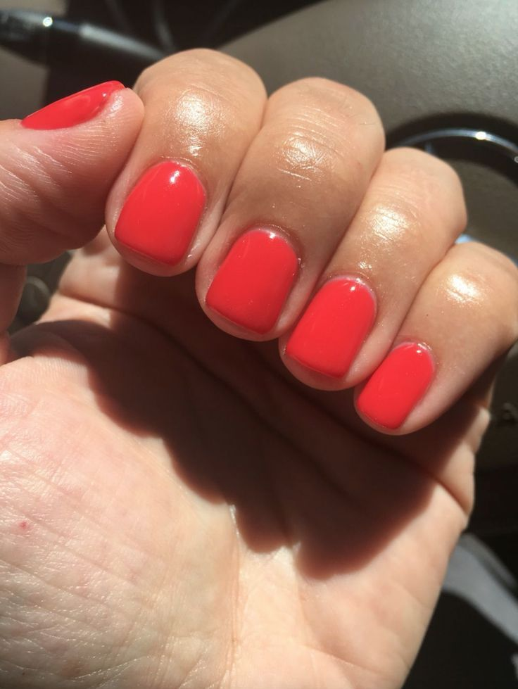 Opi Cajun Shrimp Red Gel Nails Coral Nail Polish Gel Nails