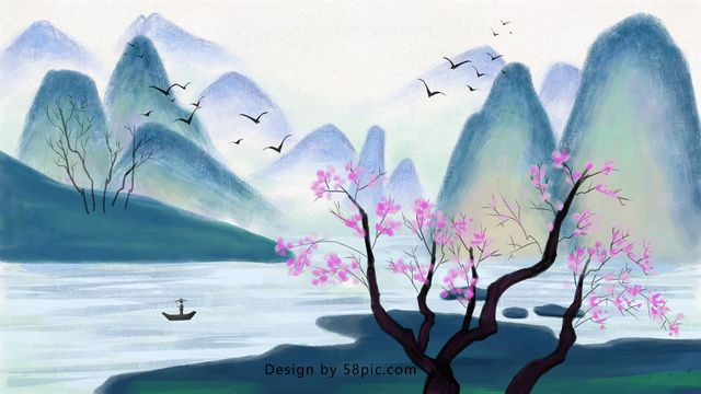 Traditional Chinese Painting Ink Landscape Traditional Chinese Painting Landscape Illustration Image On Pngtree Free Download On Chinese Landscape Painting Chinese Painting Flowers Chinese Painting