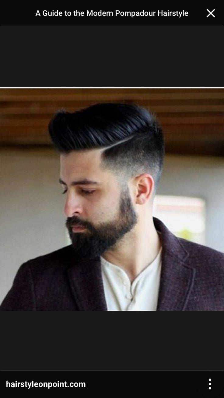Modern pompadour beard - Pompadour