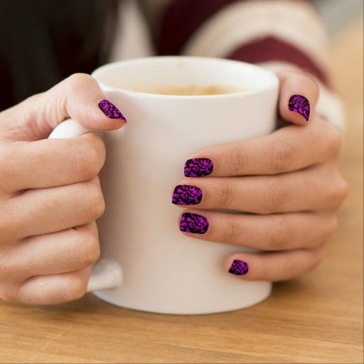 Purple & Black Nails Sticker by elenaind
