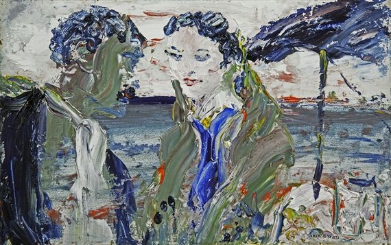 Artwork by Jack B. Yeats, By Drumcliffe Strand Long Ago, Made of Oil on board