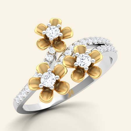 Floweret diamond ring