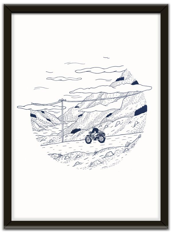 Ghost Mountain Pass Print by Michael