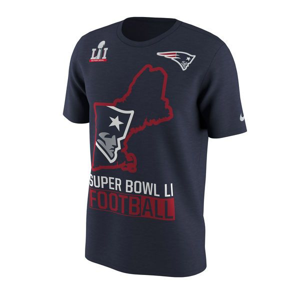 New England Patriots Nike Super Bowl LI Bound Local State T-Shirt - Navy