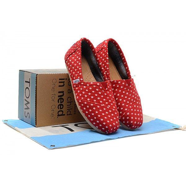 Red Polka Dot Linen Women's Classics
