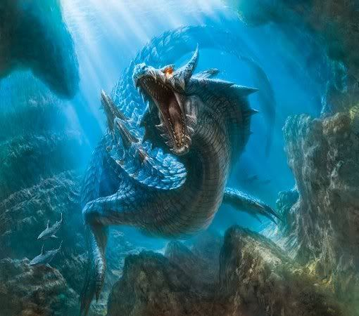 Lagiacrus from Monster Hunters  (Artist unknown)