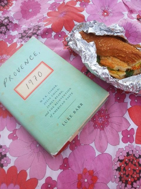 Book and Banh Mi at the Beach