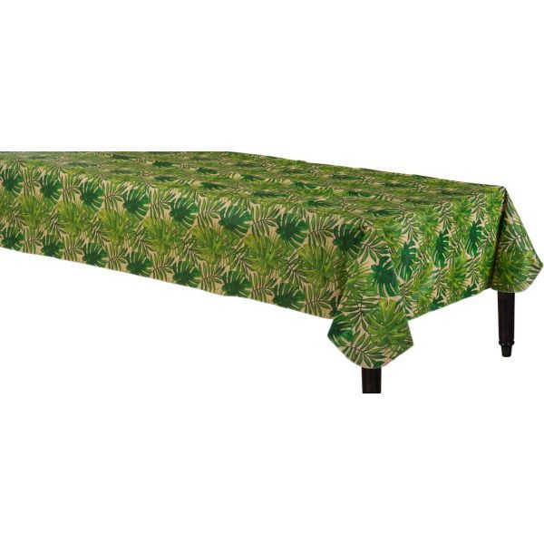 Palm tree tablecloth  http://m.partycity.com/products/island+palm+flannel-backed+vinyl+table+cover+52in+x+90in?bypass_redirect=1