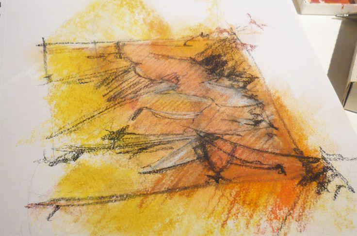 soft pastel, little etude, Miriam Javorkova