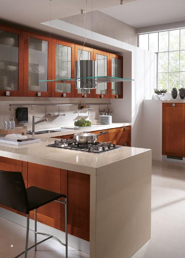 Silestone countertop in contemporary kitchen