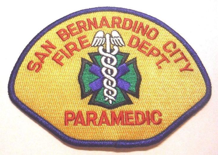 SAN BERNARDINO CALIFORNIA FIRE DEPT PARAMEDIC PATCH UNUSED