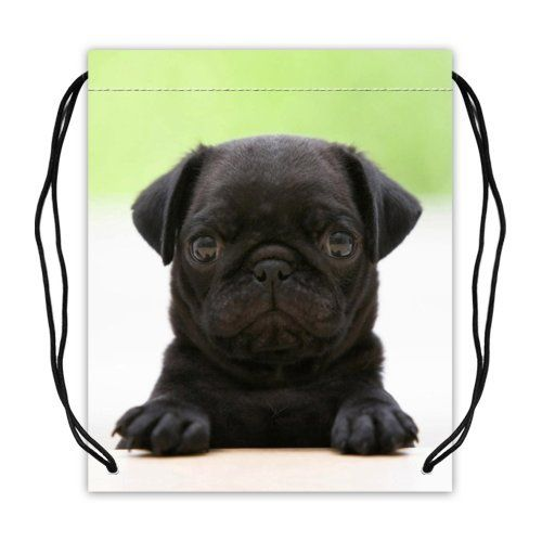 Durable Pug Puppy Sport Basketball Equipment Bags (Twin Sides)