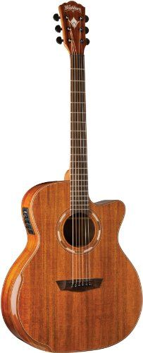 Washburn Comfort Series WCG55CE Acoustic Guitar, Natural >>> Want additional info? Click on the image.