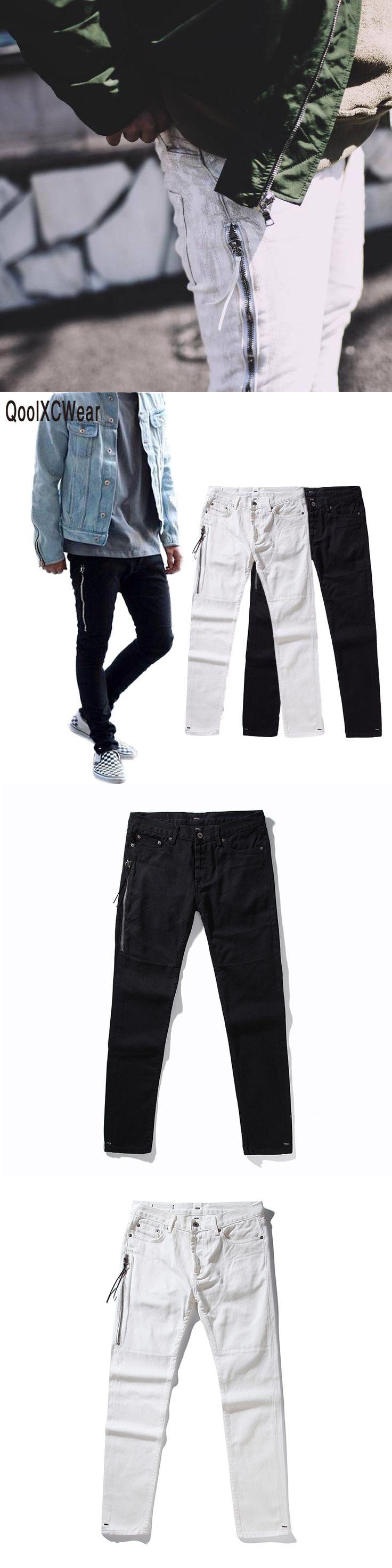 2017 NEW  Mens Biker Jeans Motorcycle Slim Fit Washed Black Grey Blue Moto Denim Pants Joggers For Skinny Men