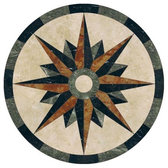 Western Inlay Floor Tile Circular Design : Best detalles en marmol images on pinterest
