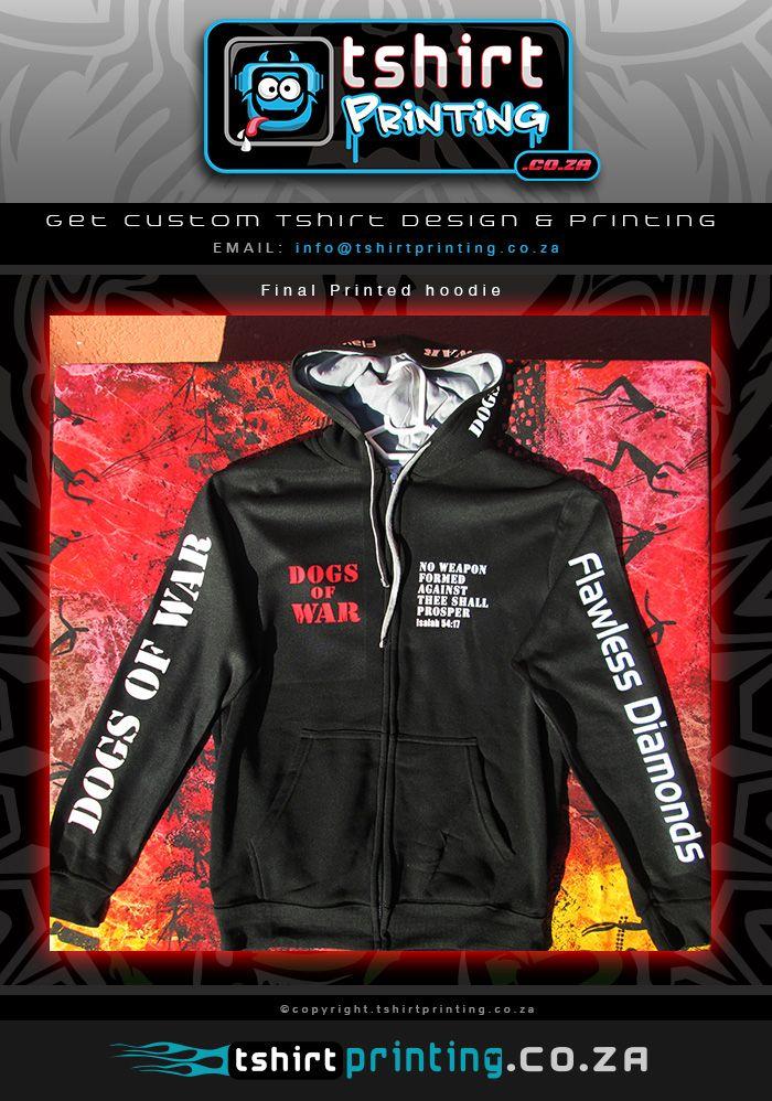 Custom hoodie printed front
