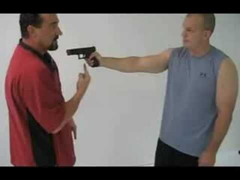 """""""Self-defense"""" upon lethal use of force: how-to disarm a gunman pointing at you in very close proximity."""