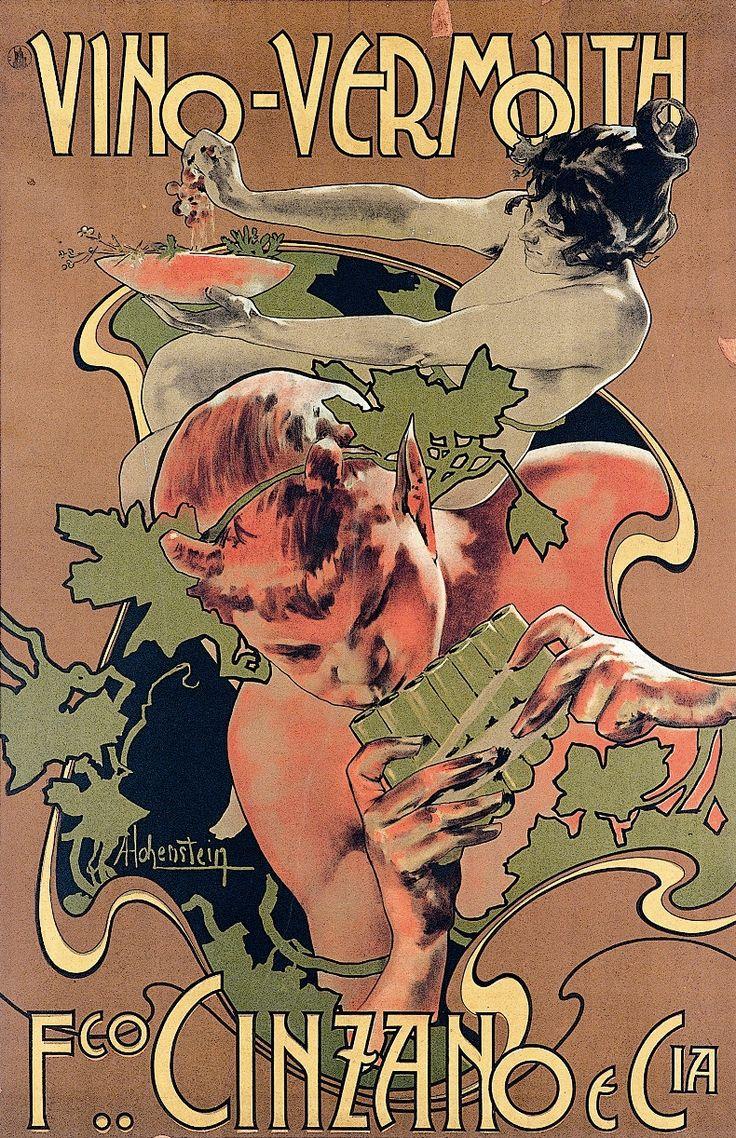 """""""Vino Vermouth Cinzano"""" Adolf Hohenstein, 1889"""