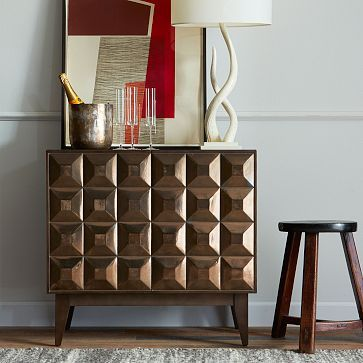 Lubna Chowdhary Tiled Buffet - Smoke #westelm  (get two of these and cut off legs?)