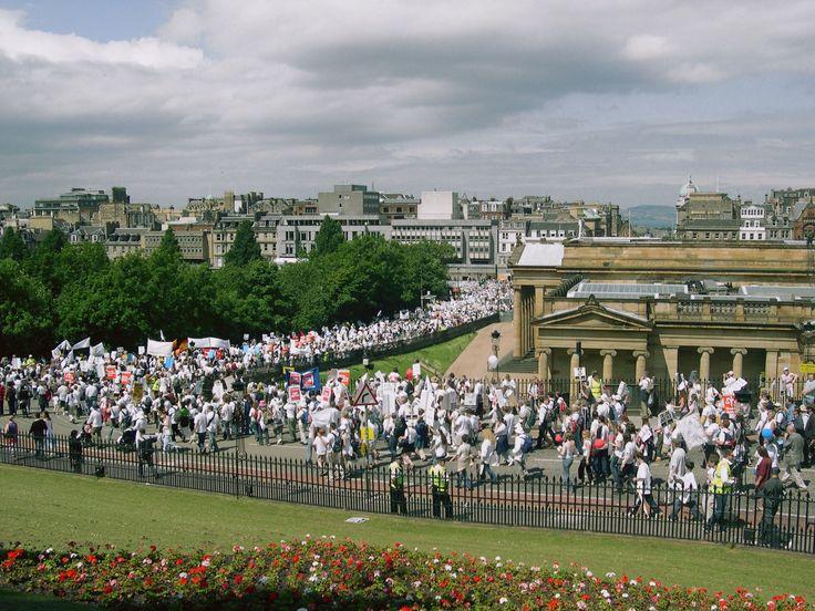 Make Povery History Protests in Edinburgh (2005)