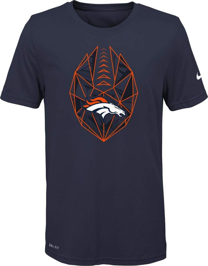 6277e94bc Nike Youth Denver Broncos Icon Performance Navy T-Shirt