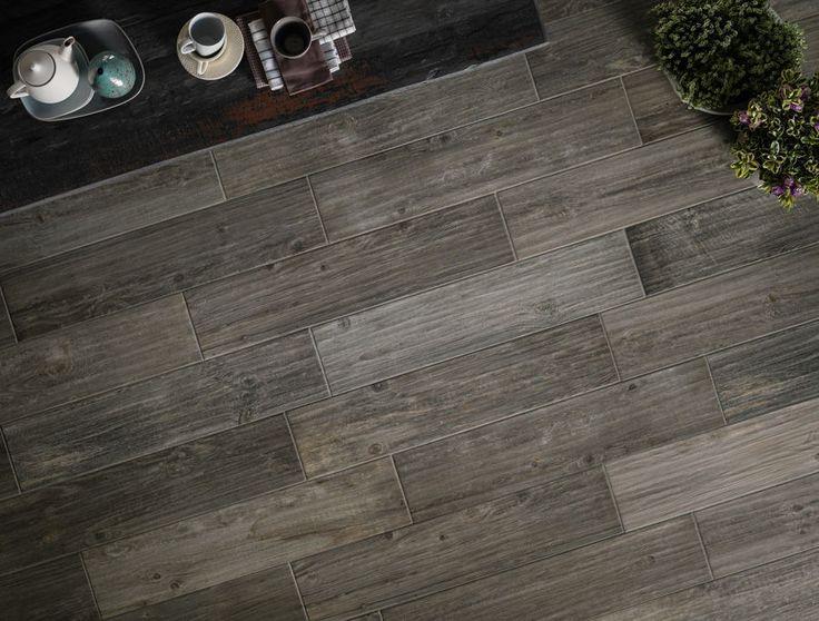 Baldosa imitación parquet / para pavimento / de gres porcelánico / pulida - ASSI D'ALPE : MASO - Panaria Ceramica