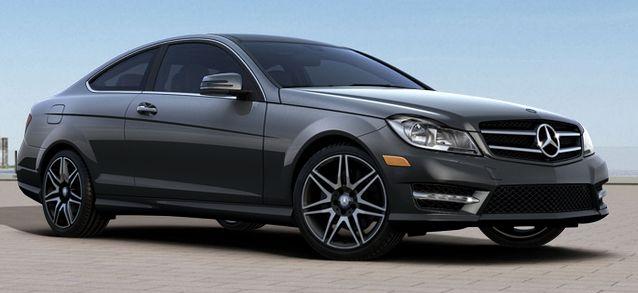 Mercedes C250 - Steel Grey Metallic - Wheels: 18-inch AMG twin 7-spoke wheels