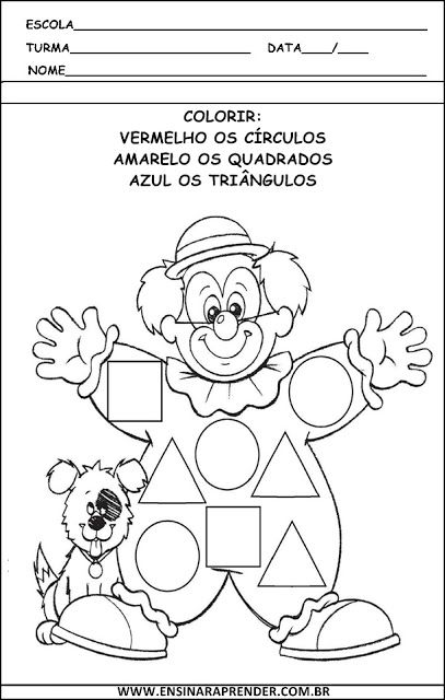 ATIVIDADES SOBRE CIRCO | Cantinho do Educador Infantil
