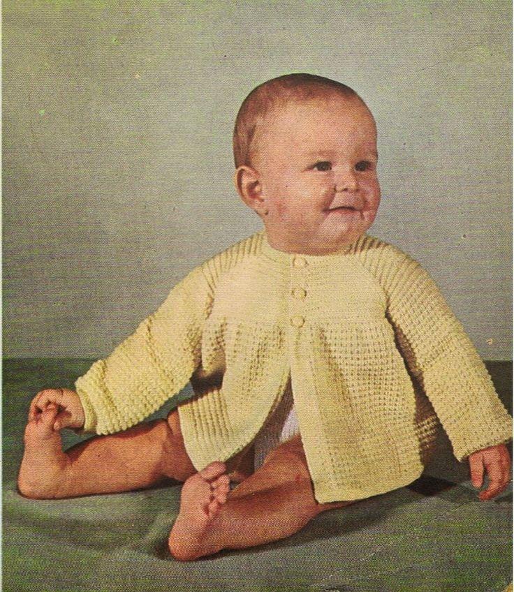 Boon en Staak Nieuws: Gebreid Babyjasje uit de jaren 50