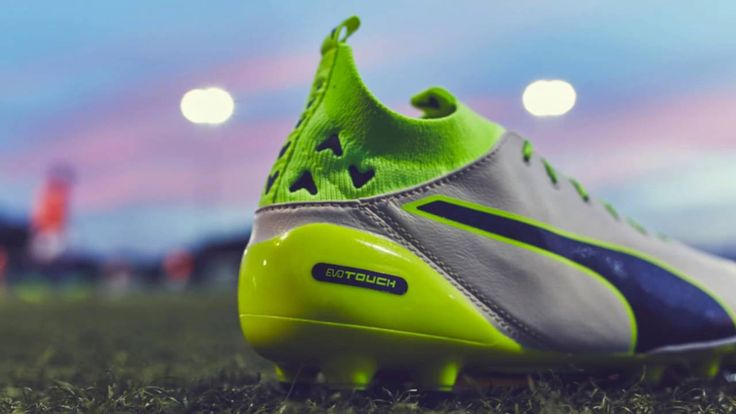 Football Boots Puma evoTOUCH Pro Birch, Peacoat amd Safety Yellow