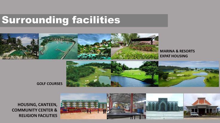 FACILITIES  SURROUNDINGS (within 1 km)  1.Leisure : golf, resort, hotel, and 2.Hospital, and 3.Safety & security related : Provincial Police, Estate Police, Fire fighter brigade