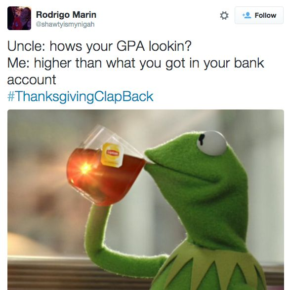 Yikes. | 18 Times The Thanksgiving Clapback Hashtag Was Too Perfect